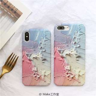 [iphone 6/6S/6Plus/7/7Plus/X] Arcylic Paint 3D Phone Case
