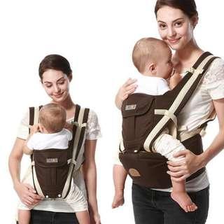 嬰兒透氣雙肩減壓坐墊式揹巾