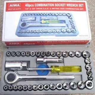 aiwa 40 pcs tool box