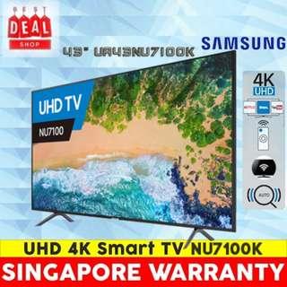 Samsung Smart TV 43″ UA43NU7100 4K UHD with 3 Years Singapore Warranty