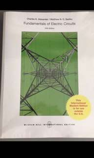 Fundamentals of Electric Circuits (5th edition) EE2001