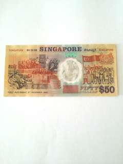 S$50 1st commemorative polymer note