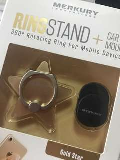 Ring Stand + Car mount gold star
