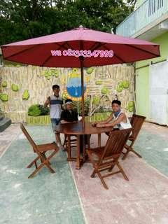 Meja makan, kursi cafe, kain payung, kain tenda,