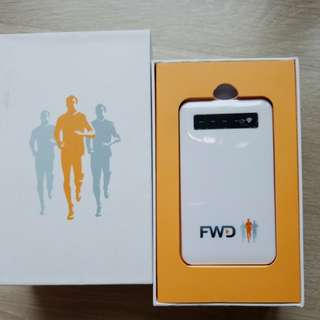 超薄 FWD 4000mAh White Power Bank 富衛 流動充電器 尿袋 後備電池 赠品