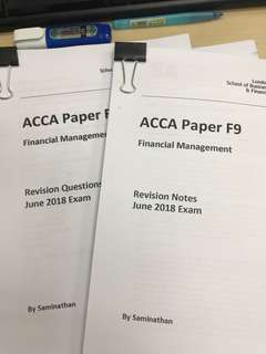 ACCA F9 Revision Note,Question,Answer