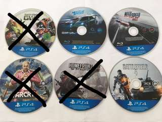 PS4 Games, NFS, Battlefield, Farcry, Plant vs Zombies, Homefront