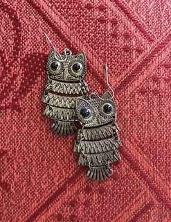 Owl Rustic Earrings