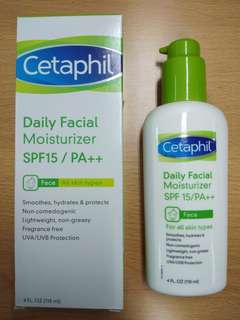 Cetaphil Daily Facial Moisturizer SPF15/PA++