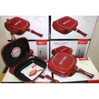 Panci Double Pan 32Cm Anti Lengket Happycall Original Cat Kulit Jeruk