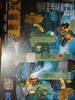 Genuine Lego 76058, 70913 and 76058 sets:  brand new with spider-man and hobgoblin and ghost rider. Brand new set with Batman and scarecrow. Brand new set with Aquaman with 2 Atlantean Guards and 1 Parademon.