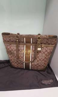 Coach Large Coated canvas tote bag