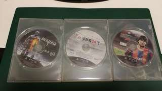 PS3 Battlefield 3,  FIFA 14,  Winning Eleven 2011