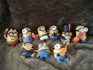 (TAKE ALL) Minions Happy Meal Toys