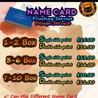 Print name card
