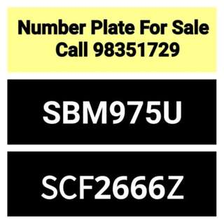28 years old car number plate for sale - call 98351729
