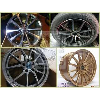 17吋 精選特價鋁圈 搭倍耐力 215/45/17 頂級性能胎 DRAGON-SPORT 均一完工價~5月限時促銷