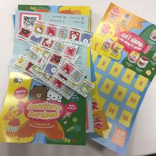 7-11 Sanrio x Line Friends Stamps for glass container