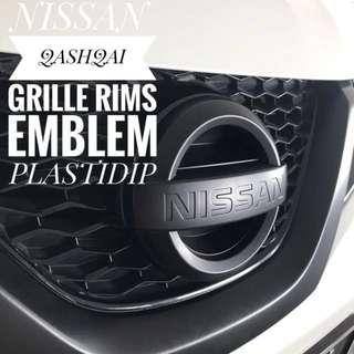 Nissan Qashqai Rims Grille Emblem Plastidip Service Plasti Dip