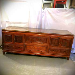 Antique style Rosewood TV console