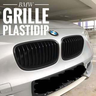 BMW Grille Plastidip Service Plasti Dip