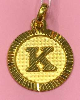 "Gold 916 - ""k"" Locket"