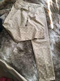 New heart print work pants