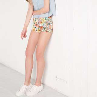 Bershka Floral Shorts