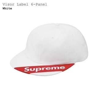 Supreme Visor Label 6-panel