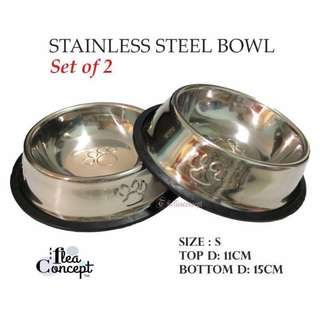 FREE NM - 2 PCs stainless steel bowl