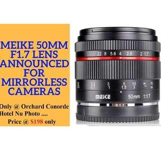 Meike 50mm F1.7 For Full Frame Sony Cameras