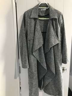 Waterfall coat grey