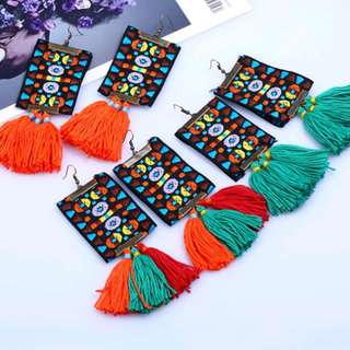 Aladdin's Carpet Tassel Earrings