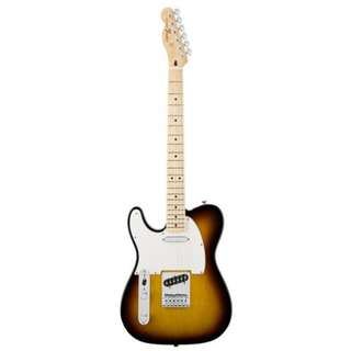 Fender Standard Telecaster Left-Handed Electric Guitar, Maple FB, Brown Sunburst