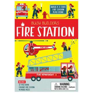 (Brand New) Busy Builders :  Fire Station    Author: Chris Oxlade Illustrator: Carles Ballesteros