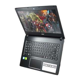 Laptop Gaming Garansi Resmi Acer Aspire E5-476G-58KE with Intel i5 8th Gen an Windows 10 | RAM 4 GB | HDD 1 TB | 14 Inch | Hitam