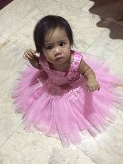 Pink Gown for 1 y/o