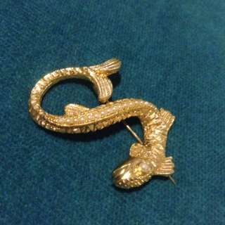 24 k Gold plated Dragon brooch