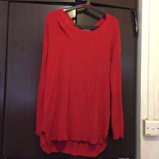 Red longsleeve knitted