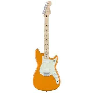 Fender Duo-Sonic Electric Guitar, Maple FB, Capri Orange