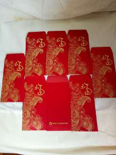 Bank of Singapore Red Packets (8 nos)