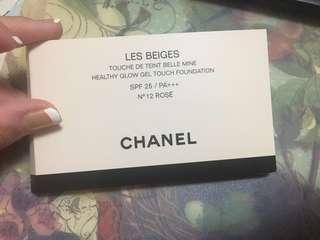 Chanel gel cushion bb cushion healthy glow gel touch foundation cushion no 12 rose