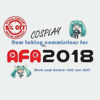 5% off Cosplay Commission