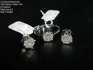 2.5 Carat Diamond Set