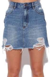 Wrangler relaxed mini skirt denim