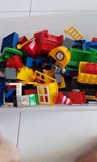 Bricks building tracks train