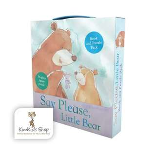 Book and puzzle Set - Say please , Little bear