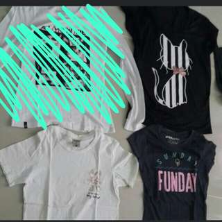 T Shirt Bundle (Cat/Sunday/Ice Cream Graphic Tees)