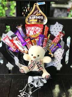 Chocolate Bouquet with bear