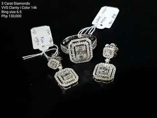 3carat diamond set